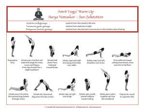 surya namaskar  everyday yoga
