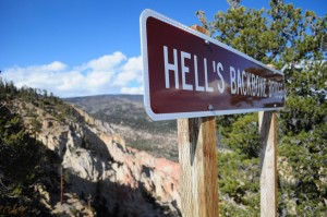 Hell's Backbone Sign